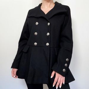 Calvin Klein Military Double-Breasted Trench Coat